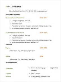 basic resume sles download free simple resume templates getessay biz
