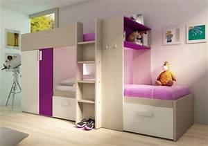 Lit Mezzanine Dressing : lit pour chambre de fille lit original pour am nager une ~ Premium-room.com Idées de Décoration