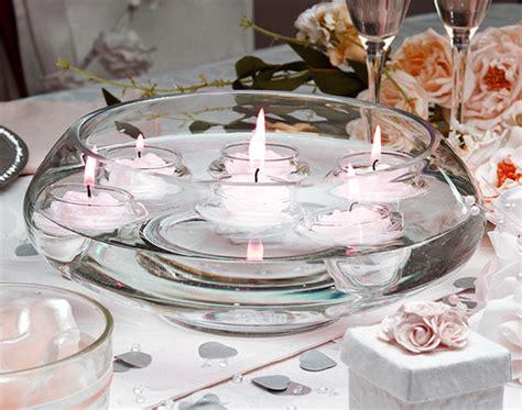 bougies mariage coupelle en verre ronde bougies flottantes vases coupelles verre mariage