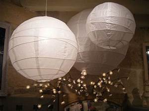 Lustre 3 boules japonaises Décoration de noël déco écolo