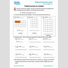 Finding Fractions Of A Number  Tmk Education