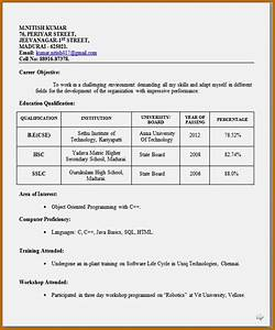 How to make a cv for fresher resume template cover letter for How to make resume for freshers
