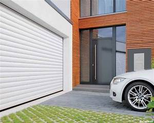 porte de garage enroulable ou sectionnelle aluminium avec With porte de garage enroulable de plus porte entree vitree