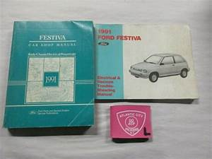 1991 Ford Festiva Service Shop Repair Manual Set With