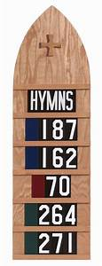 extra large hymn board in dark or natural oak item hb With hymn board letters