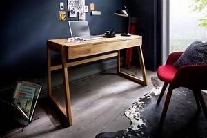 Soft Close Schublade : home affaire schreibtisch dura aus massivholz mit soft close funktion der schubladen online ~ Orissabook.com Haus und Dekorationen