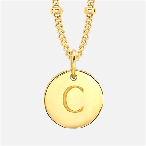 missoma womens initial charm necklace  gold  uk delivery