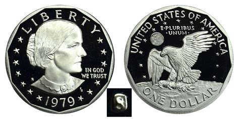 1979 susan b anthony 1979 s susan b anthony dollars type 1 filled s proof value and prices