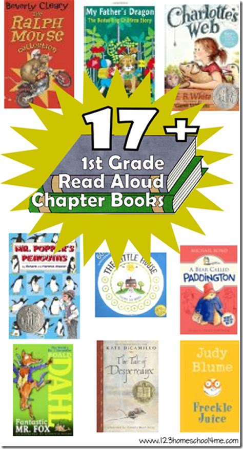Free 1st Grade Read Aloud And Chapter Books Printable List  Free Homeschool Deals