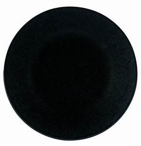 Assiette Noire Mat : assiette plate noire rglisse 30cm par apilco porcelaine htelire ~ Teatrodelosmanantiales.com Idées de Décoration