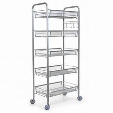 New 345 Tier Shelving Rack Shelf Rolling Kitchen Pantry