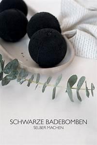 Badebomben Selber Machen : diy kosmetik selber machen schwarze badebomben ~ Markanthonyermac.com Haus und Dekorationen