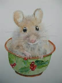 Christmas Mouse Painting