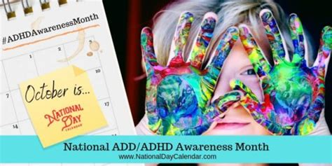 national addadhd awareness month october national day