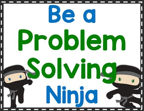 Teaching Students To Be Problem Solving Ninjas Tales