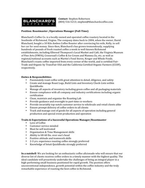 Coffee Shop Assistant Resume by Cover Letter For Coffee Shop Assistant