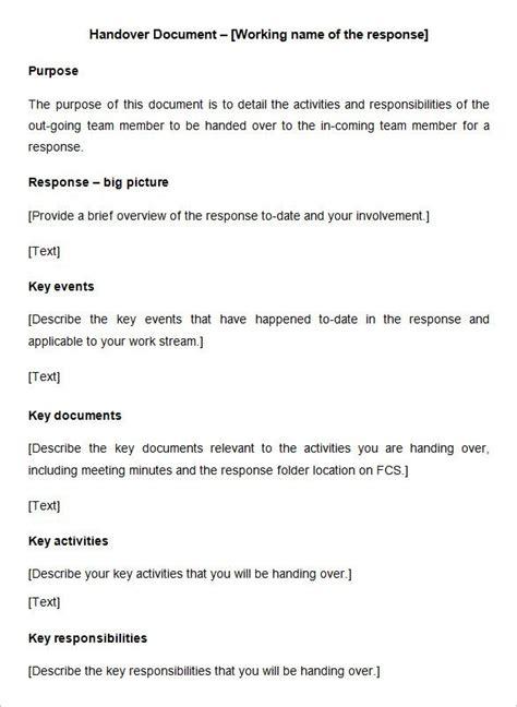 handover report templates website wordpress blog