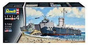 Revell 1  144 Us Navy Landing Ship Medium  05169  English