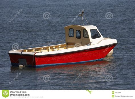small wooden motor boat stock photo image  colored