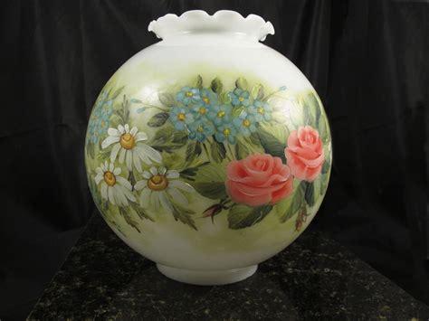 vintage floral hurricane l vintage antique 1909 hand painted signed floral hurricane