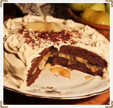 recette cuisine gateau chocolat recette du gâteau au chocolat aux poires caramélisées à l 39 érable sans gluten sans caséine et