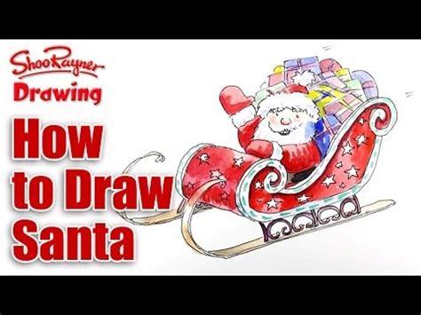 draw santas sleigh shoo rayner author