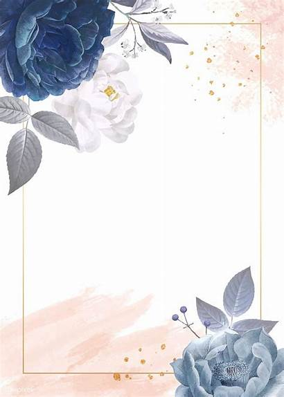 Background Flower Invitation Roses Backgrounds Floral Template