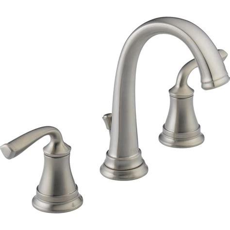 delta bathroom sink faucet installation shop delta lorain stainless 2 handle widespread bathroom