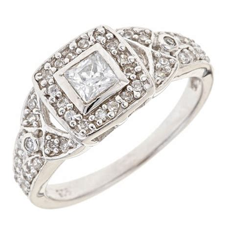 vintage deco engagement ring