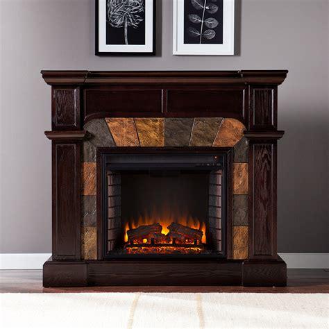 Cartwright Espresso Convertible Electric Fireplace Mantel