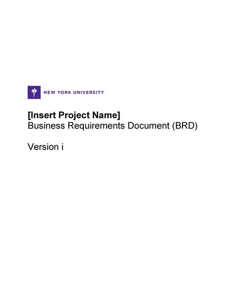 40+ Simple Business Requirements Document Templates ᐅ