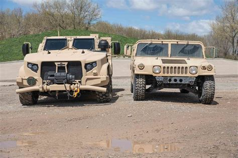 humvee replacement how the humvee compares to the new oshkosh jltv motor trend
