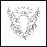 Coffin Tattoo Drawing Casket Traditional Drawings Designs Grace Getdrawings Tattoodaze sketch template