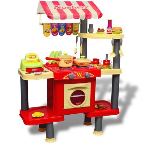 cuisine pour enfant pas cher acheter cuisine jouet grande pour enfants pas cher vidaxl fr