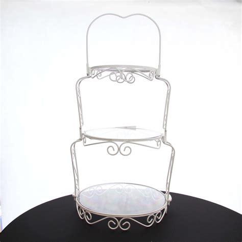 cake stand wrought iron white  tier harrisons