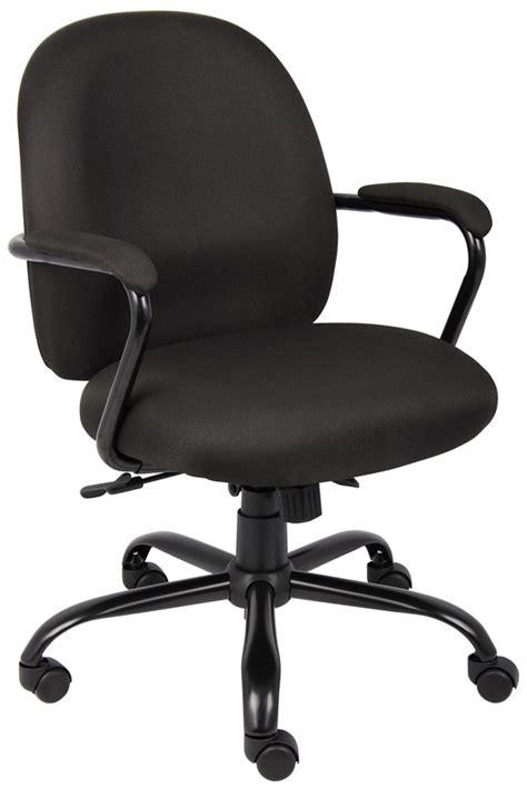 heavy duty 300 lb capacity black crepe task chair black