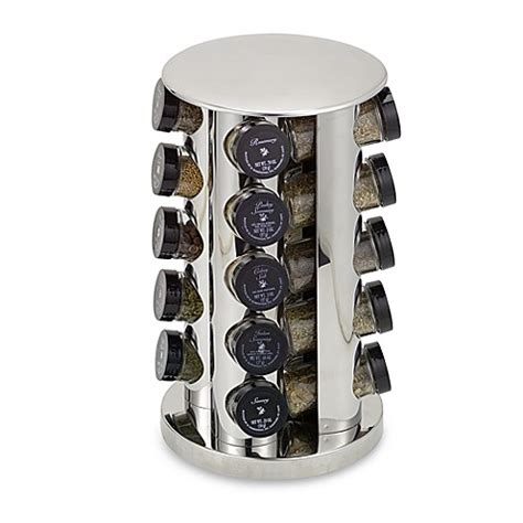Stainless Steel 20 Jar Spice Rack by Kamenstein 174 Stainless Steel 20 Jar Filled Revolving Spice