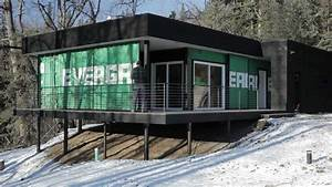 Shipping Container Cabin, Alaska - YouTube