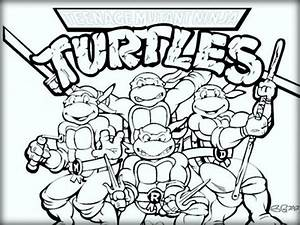 Ninja Turtles Coloring Pages For Kids Color Zini