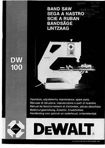 Dewalt Dw 100 Tools Download Manual For Free Now