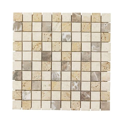 Jeffrey Court Mosaic Tile by Jeffrey Court Giallo Medley 12 In X 12 In X 8 Mm