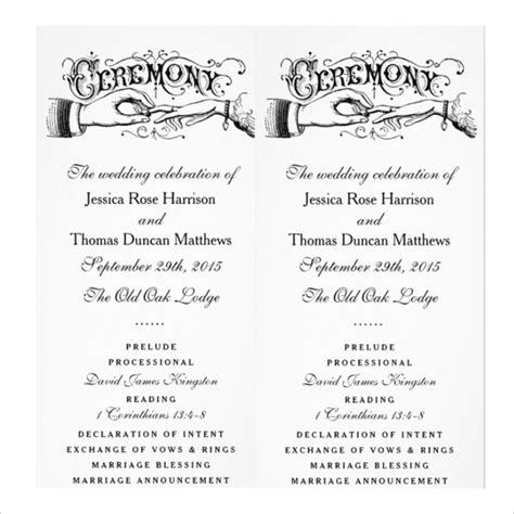wedding ceremony templates  sample
