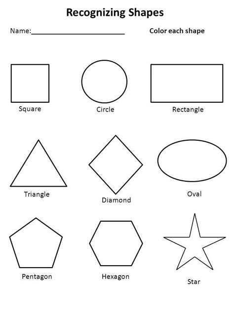 free shapes worksheets kiddo shelter