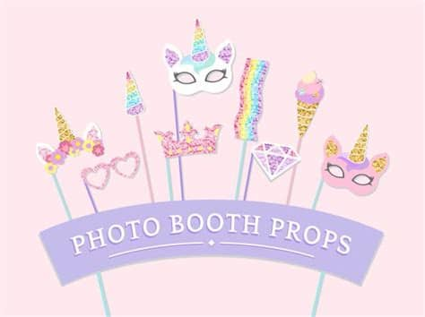Ai (adobe illustrator) eps (encapsulated postscript). Download Cute Unicorn Photo Booth Party Props Vector for ...