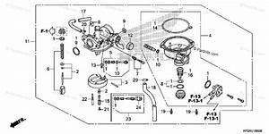 Honda Atv 2012 Oem Parts Diagram For Carburetor