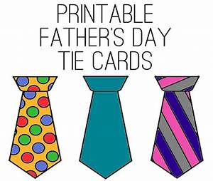 Printable Father's Day Tie Cards | Life Your Way