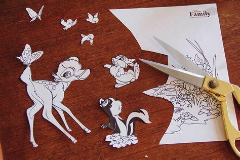 coloring page    diy bambi lampshade disney