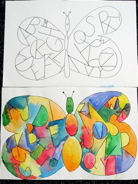 preschool butterfly craft guided drawing inside the butterfly wings write the 333