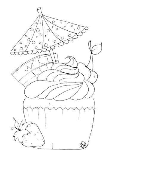 cute cupcake coloring pages getcoloringpagescom