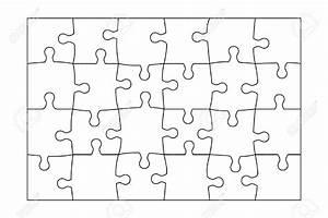 24 Piece Puzzle Template